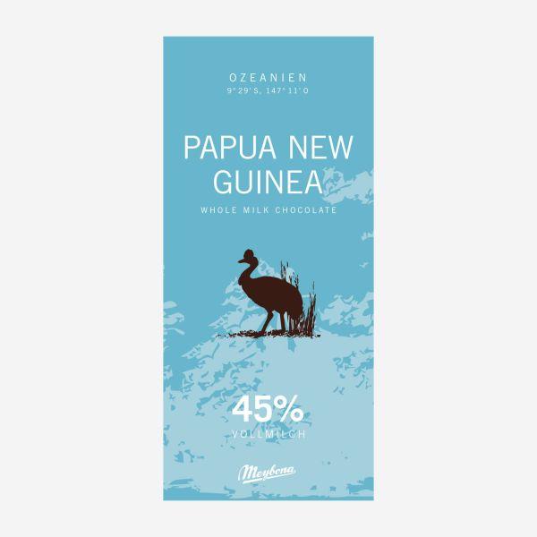 Papua Neu Guinea Ursprungsschokolade 45%