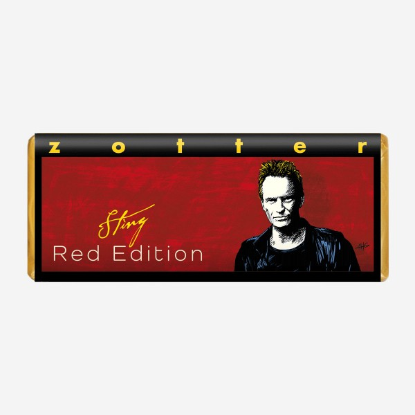 "Schokolade Zotter ""Sting Red Edition"""