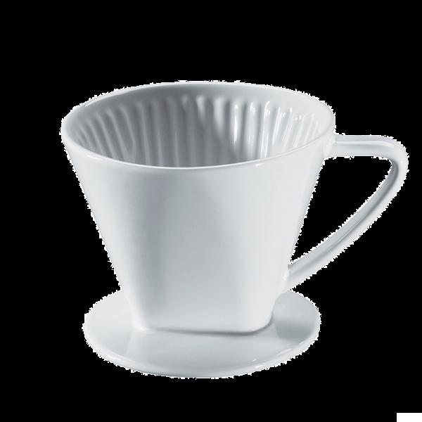 Cilio Kaffeefilter aus Porzellan Gr.4 weiß