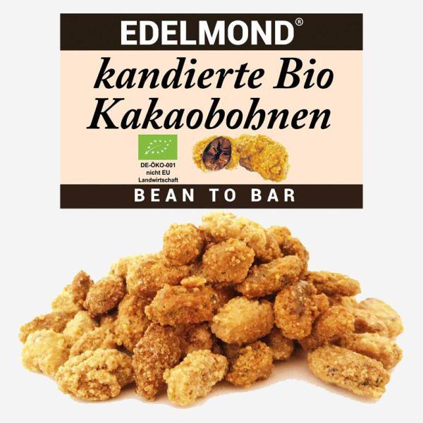 geröstete und kandierte Bio Kakaobohnen