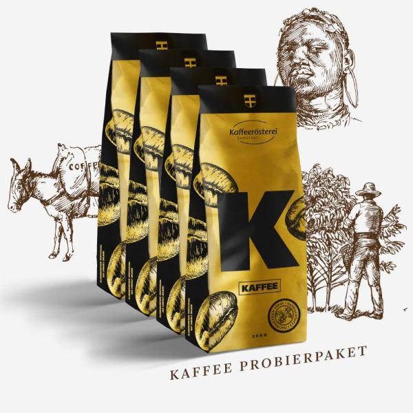 Kaffee Probierpaket 4x250g