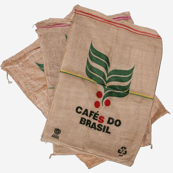 3 Kaffeesäcke, Originale aus Brasilien