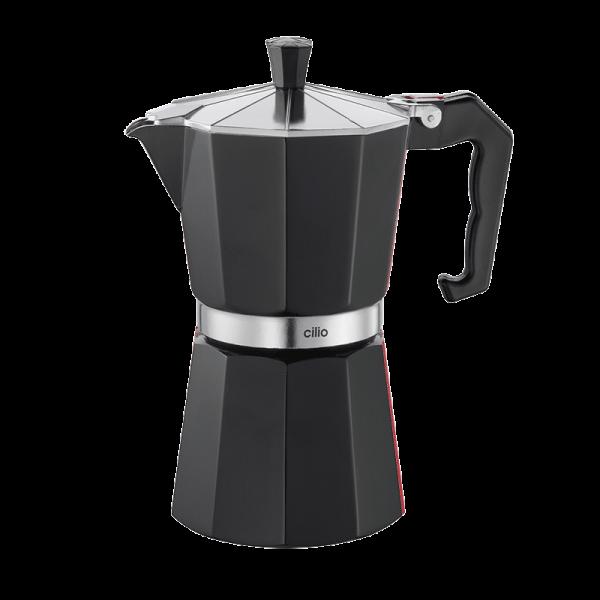 Espressokocher schwarz