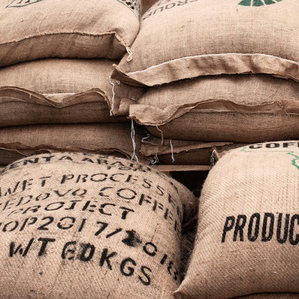 10 Kaffeesäcke, Originale aus aller Welt
